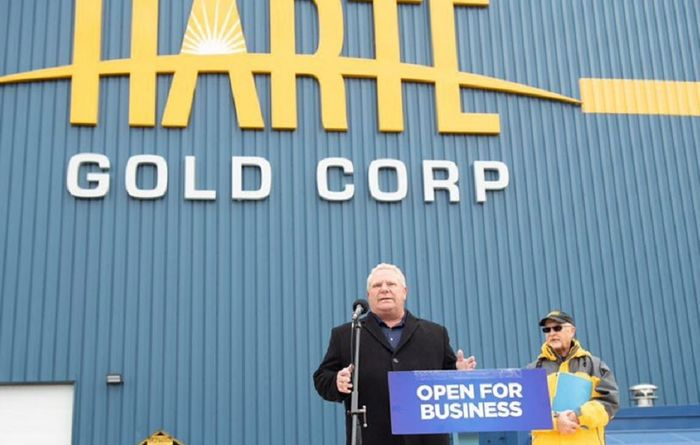 """The [mine] opening…is a signal to the world that Ontario is open for business"""