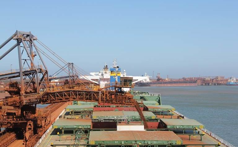 First FMG West Pilbara Fines on the water