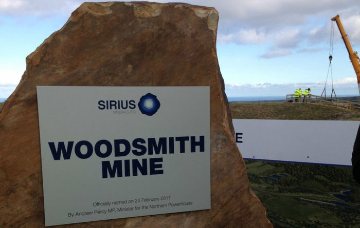 Sirius ups Woodsmith capex by $500M
