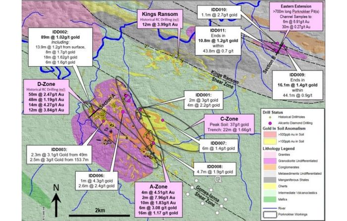 Alicanto drills visible gold in Guyana