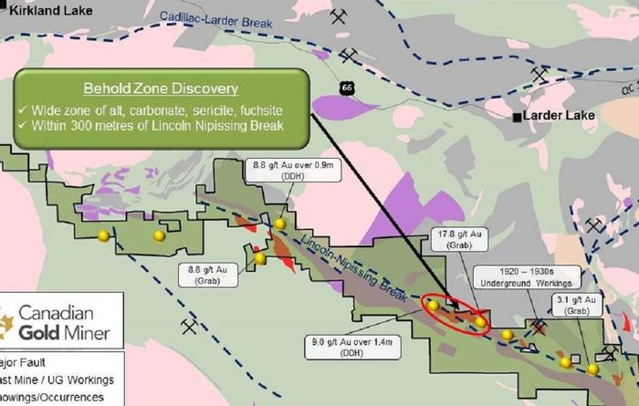 Behold 'new gold zone' south of Kirkland Lake