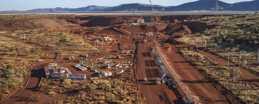 Iron ore, miners lower