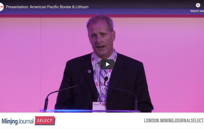 Mining Journal Select 2019: American Pacific Borate & Lithium