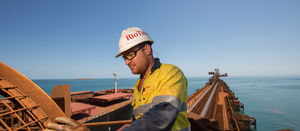 Rio iron ore output down