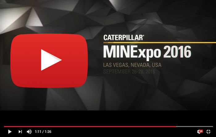 Cat MINExpo 2016 Preview