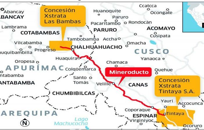 Las Bambas evaluating mineral pipeline