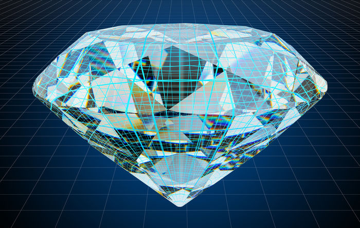 Diamonds meet crypto
