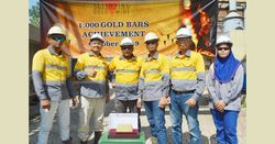'It is with great pleasure that we celebrated this landmark 1,000th gold bar'