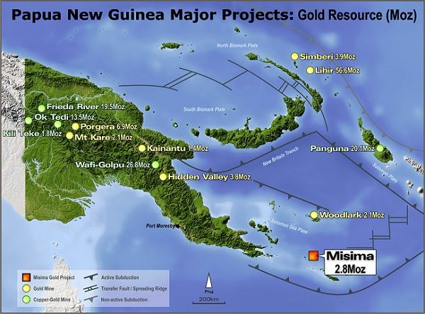 alt='Misima sits among other major gold projects'