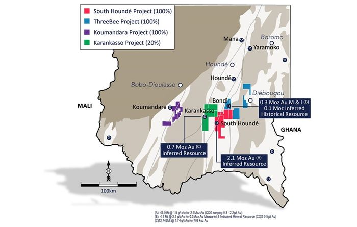 Karankasso JV resource shrinks in Burkina Faso
