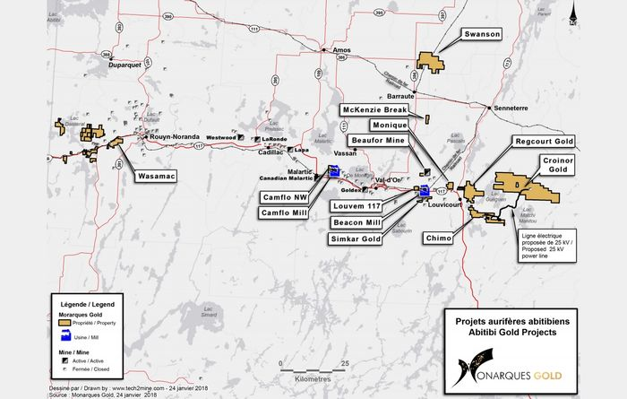 Québec government invests in Monarques Gold