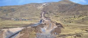 The conveyor corridor at Lydian International's Amulsar gold project in Armenia