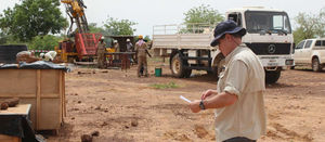 Sanbrado, Burkina Faso: 36.5m grading 2.5g/t Au from 320m depth (TAN17-DD118)