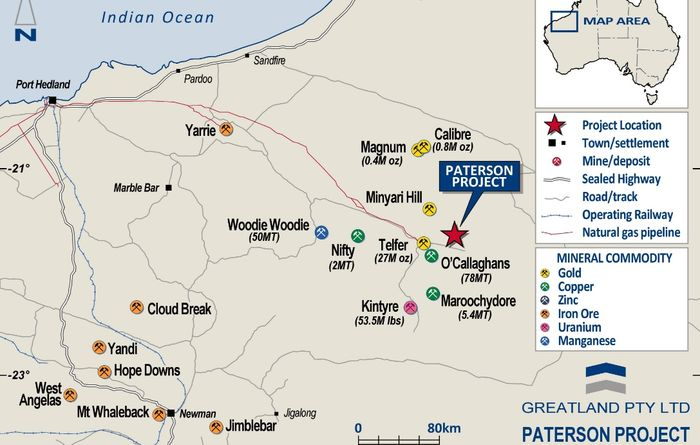 Greatland detects copper, gold, silver at Havieron's Scallywag