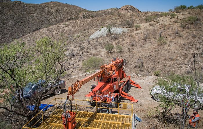First indicated resource estimate for Las Chispas