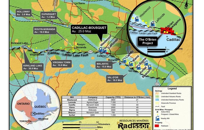 Radisson ramps up O'Brien drilling