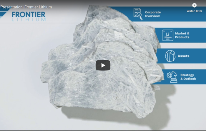 Mining Journal Select 2019: Frontier Lithium