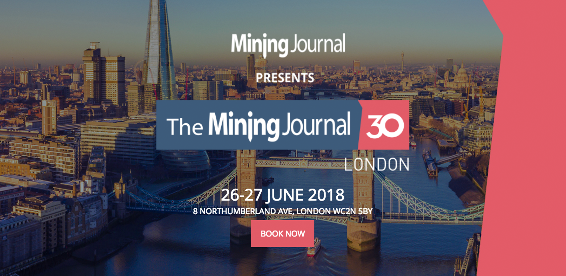 The Mining Journal 30 London 2018