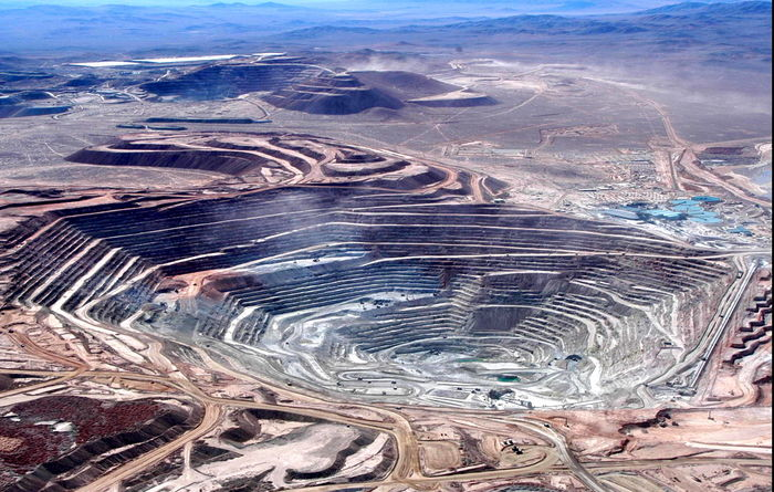 Lower Chile copper production in 2020