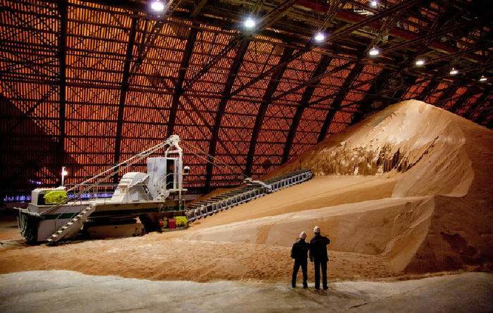 And the potash price is …